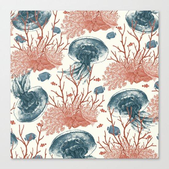 Aquatic Pattern Canvas Print