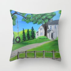 The front yard Throw Pillow
