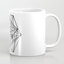 Geometric Crystal - Black and white geometric abstract design Coffee Mug
