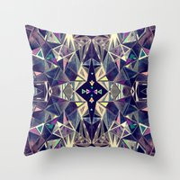 kaleidoscope Throw Pillows featuring Kaleidoscope by QUEQZZ