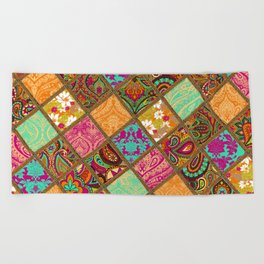 Patchwork Paisley Beach Towel