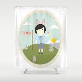 I heart bunnies Shower Curtain
