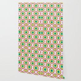 1970s Inspied Geomeric Pattern Wallpaper