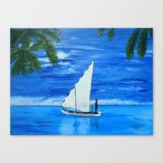 Sailing a way  Canvas Print