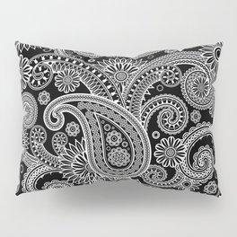 Boho Black & White Paisley Pattern Pillow Sham
