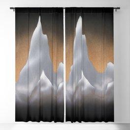 Snowcapped Mountains Blackout Curtain