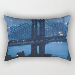 Manhattan Bridge at twilight Rectangular Pillow