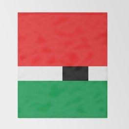 Xmas Color Santa Claus Throw Blanket
