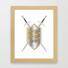 Crossed Swords and Shield Framed Art Print