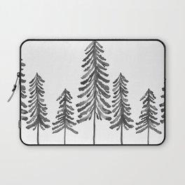 Pine Trees – Black Ink Laptop Sleeve