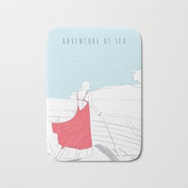 Glamorous Adventure At Sea Bath Mat