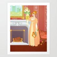 Regency Daisy Art Print