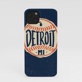 Detroit Michigan Hand Drawn Script Design iPhone Case