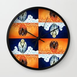 Duality: Angel/Devil Tiling (Color) Wall Clock