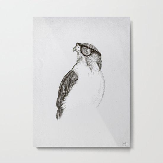 Hawk with Poor Eyesight Metal Print