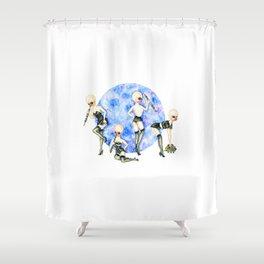 Pin-up Modal Nodes Shower Curtain
