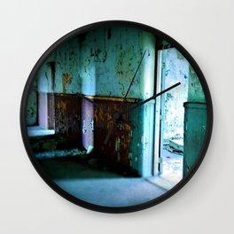 Emanation - urbex - urban exploration - abandoned places Wall Clock
