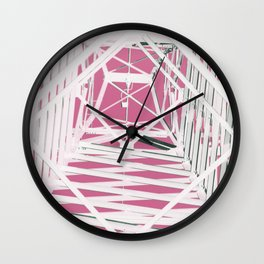 Pink Pylons Wall Clock
