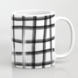 Simple crayon lines pattern black and white Coffee Mug