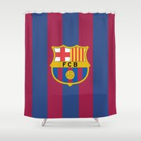 barcelona Shower Curtains featuring Barcelona by Kesen