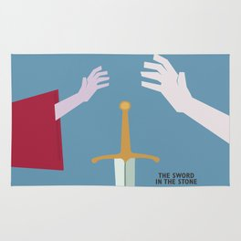 The Sword in the Stone - Movie Poster - Penguin Book version Rug