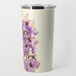 Purple Larkspur Delphinium Flowers Travel Mug