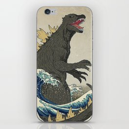 The Great Godzilla off Kanagawa iPhone Skin