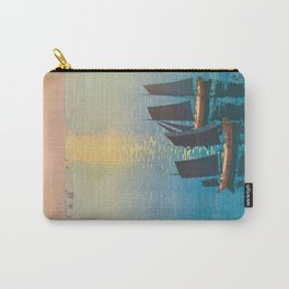 Glittering Sea (Hikaru Umi) Hiroshi Yoshida Modern Japanese Woodblock Print Carry-All Pouch