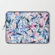 Wandering Wildflowers Blue Laptop Sleeve