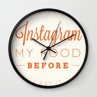 instagram Wall Clocks featuring Instagram by PaulWorm