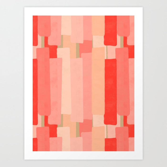 Like In Coral #society6 #abstractart Art Print
