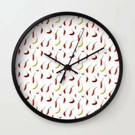 Chillies Wall Clock