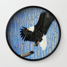 Bald Eagle-3 Wall Clock