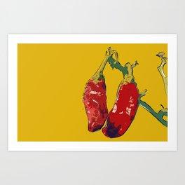 Chillis (o) Art Print
