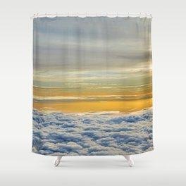 In-between the Clouds IV Shower Curtain