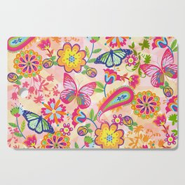 Butterflies and Fowers Cutting Board