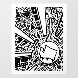 Northwest Sun Art Print