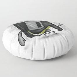 Floppy Disc Dave Floor Pillow
