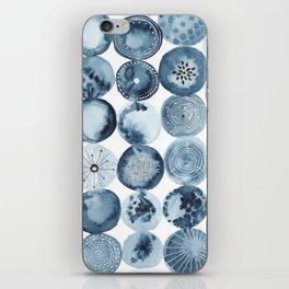 Indigo watercolorInk 01 iPhone Skin