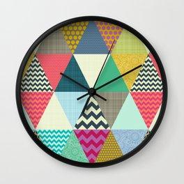 New York Beauty triangles Wall Clock