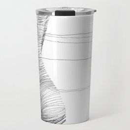 line drawing of a nude girl Travel Mug