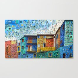 Buenos Aires Travel Collage Canvas Print