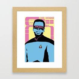Mr. La Forge Framed Art Print
