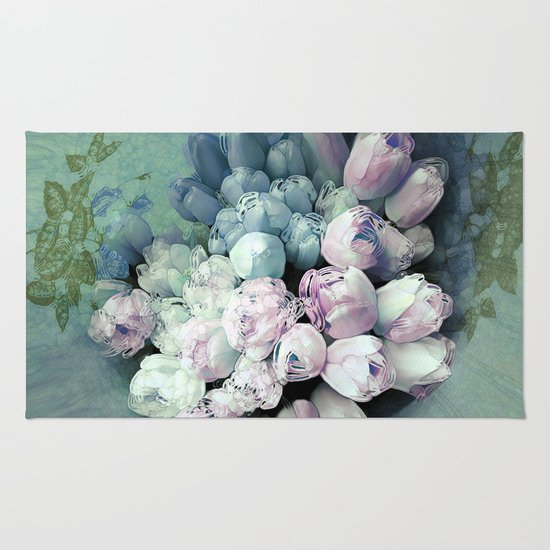 Tulips Antique Rug