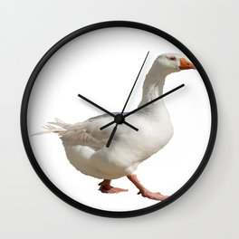 Lovely Weather For Ducks Vector Wall Clock