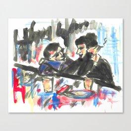 Les amoureux au bar.  Canvas Print