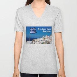 The Greek Isles - Santorini Greece Unisex V-Neck