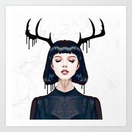 Fawn Siren Drip II Art Print