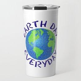 Colorful Earth Day Everyday Travel Mug