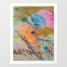 Cosmic Cascade Art Print